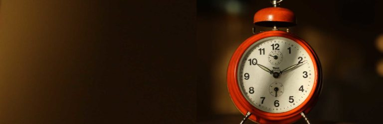 Late budgeting: Clock showing a late time