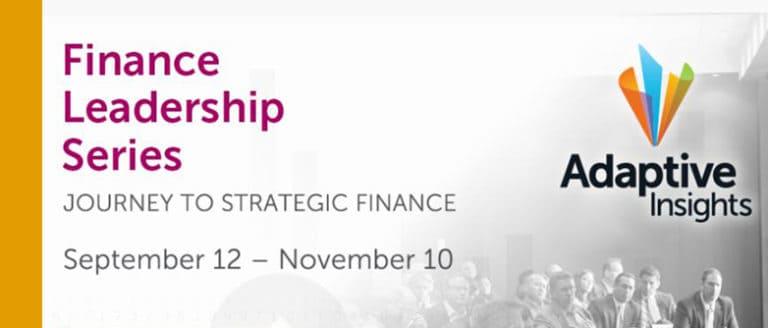Adaptive Insights Financial leadership Series
