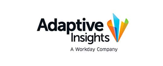 Adaptive Insights logo: Adaptive Insights is a workday company