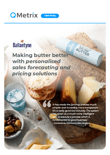 "Ballantyne case study: Cover of the case study ""Making butter better with personalised sales forecasting and pricing solutions"""