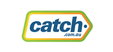 Green. orange and blue Catch logo