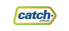Green. orange and blue Catch logo