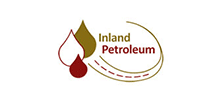Mustard and maroon Inland Petroleum logo