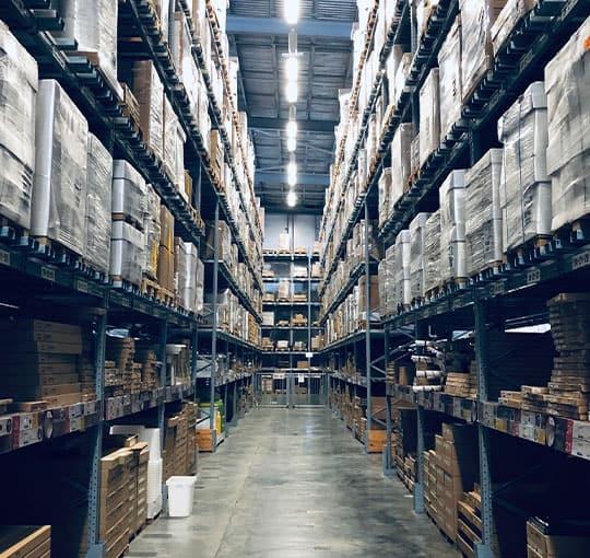 Big logistics warehouse