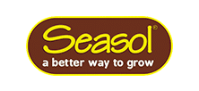 Brown and yellow Seasol logo