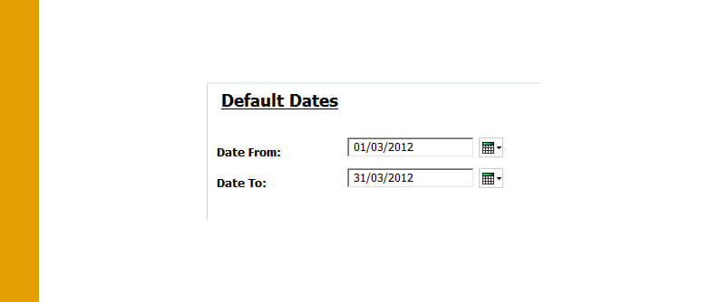 Cognos: Setting dynamic default date prompts | QMetrix