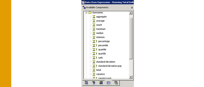 Cognos: Running Totals on multi-dimensional data sources | qmx_admin