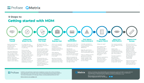 , 9 Steps to getting started with Master Data Management (MDM)