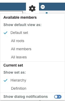 Example of how to configure default settings