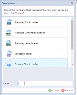 Example of custom cloud loader in Adaptive Insights