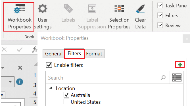 OfficeConnect filter in Adaptive Insights