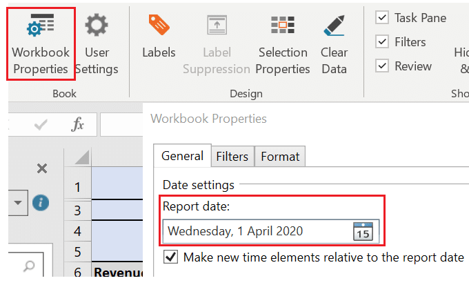 Example of relative dates in Adaptive Insights