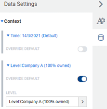 Adaptive Planning dashboard view settings