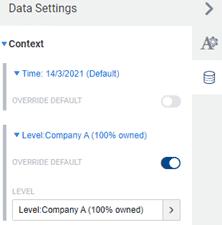 Adaptive Planning dashboard view settings