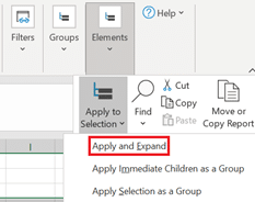 Users can apply and expand from the OfficeConnect menu
